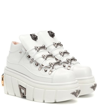 Leather Platform Sneakers - Gucci