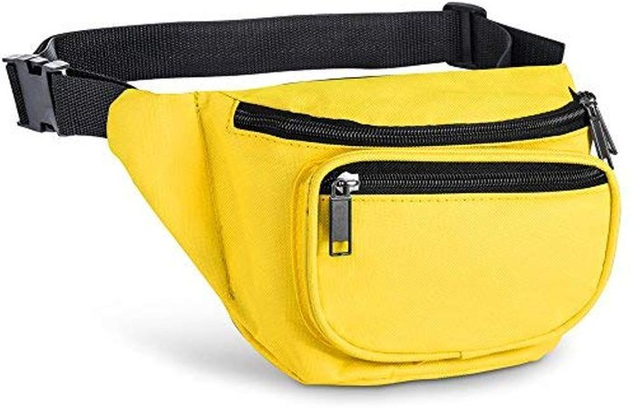 Amazon.com | Fanny Pack, AirBuyW 3 Zippered Compartments Adjustable Waist Sport Fanny Pack Bag | Waist Packs