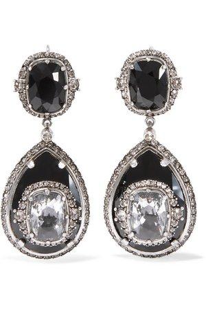 Alexander McQueen   Silver-tone crystal earrings   NET-A-PORTER.COM