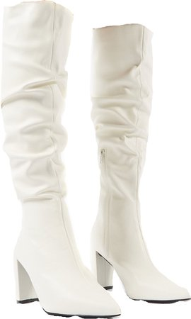 High white boots