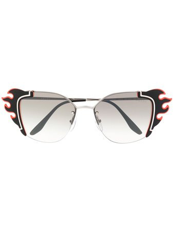 Prada Eyewear Flame Shaped Sunglasses - Farfetch