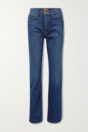 The Tripper Sneak High-rise Straight-leg Jeans - Dark denim