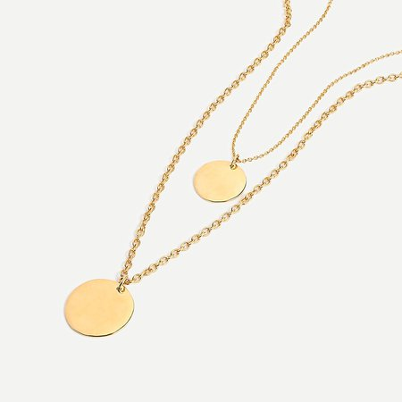 J.Crew: Layered Coin Necklace For Women