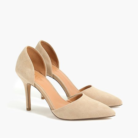 J.Crew Factory: Suede D'Orsay Pumps For Women
