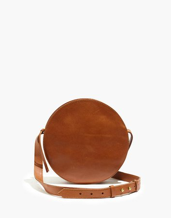 The Simple Circle Crossbody Bag in Leather