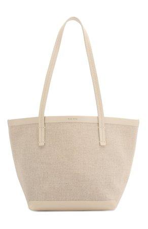 Женская белая сумка-шопер THE ROW — купить за 74650 руб. в интернет-магазине ЦУМ, арт. W1242V20L52
