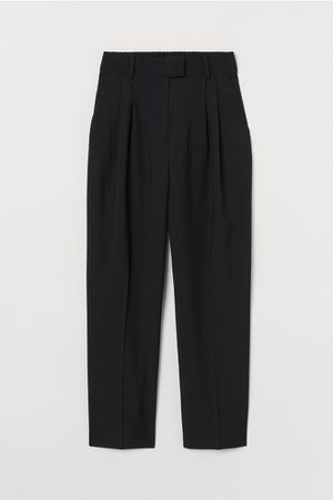 Crease-leg trousers - Black - | H&M