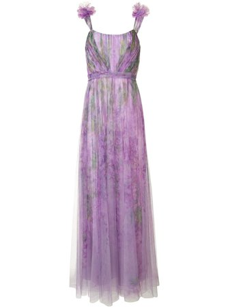 Marchesa Notte Floral Tulle Gown - Farfetch