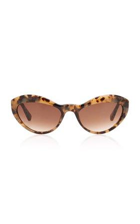 Kate Young Elene Cat-Eye Tortoiseshell Acetate Sunglasses