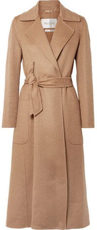 Viadana Belted Camel Hair Coat - Sand