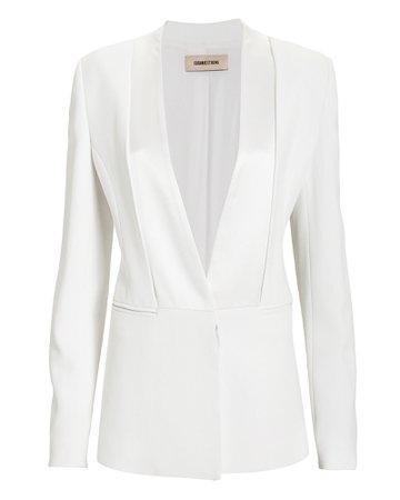 White Designer Blazer for Women   Cushnie