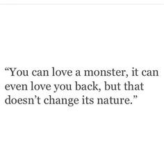 Monster quote