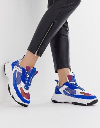 Calvin Klein Maya blue multi suede chunky trainers | ASOS