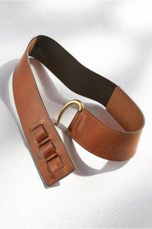 Stas Adjustable Leather Belt - Antique Gold Hook Belt | Soft Surroundings