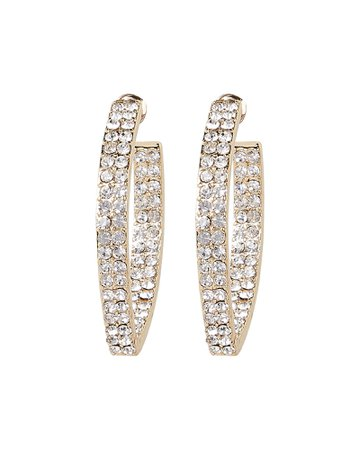 Marquise Pavé Crystal Hoops