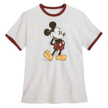 Mickey Mouse Ringer T-Shirt for Men | shopDisney