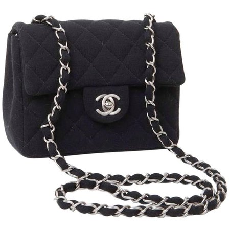 CHANEL Mini Bag in Black Jersey