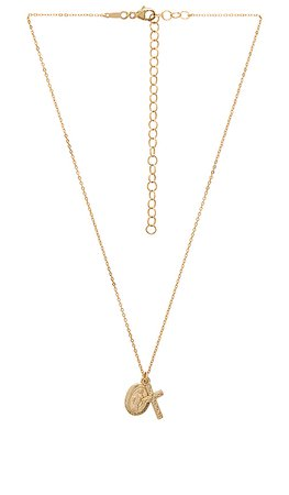 ERTH Vintage Cross & Coin Necklace in Gold | REVOLVE