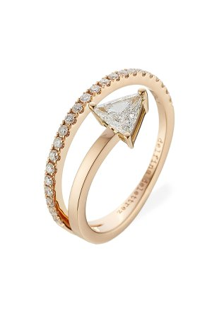 Marry Me 18kt Pink Gold Ring with Diamonds Gr. One Size
