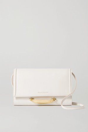 The Story Leather Shoulder Bag - White