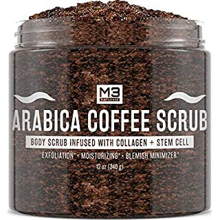 Amazon.com : Natural Riches Arabica Coffee Body & Face Scrub – (12 Oz / 340gm) Deep Cleansing Exfoliator All-Natural exfoliates with Coconut & Cocoa Butter for Stretch Marks Acne Cellulite Spider Veins Varicose Veins Age Spots : Beauty