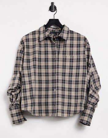 ASOS DESIGN check shirt with channel open back detail | ASOS