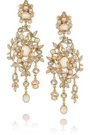 Percossi Papi | topaz, moonstone and pearl earrings