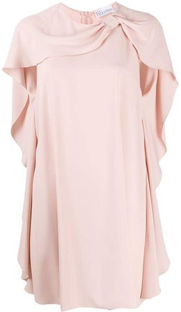 Cape Sleeve Shift Dress