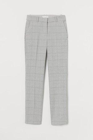 Slacks - Light grey checked plaid - Ladies | H&M US