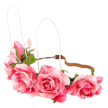 Light Up Bunny Ears Flower Crown Headwrap - Pink