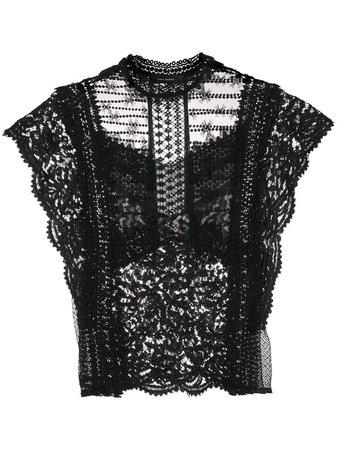 Isabel Marant Floral Lace Blouse - Farfetch
