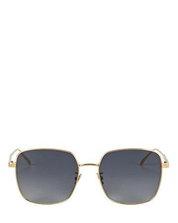 Bottega Veneta Wire Square Sunglasses | INTERMIX®