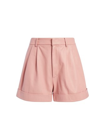 CONRY LEATHER PLEATED SHORTS | Alice + Olivia