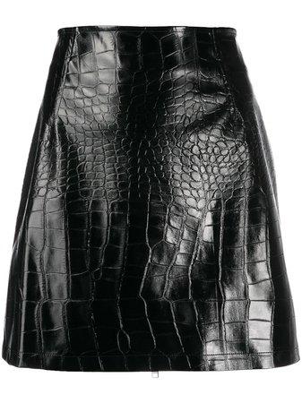 Pinko Exotic Leather Look Mini Skirt | Farfetch.com