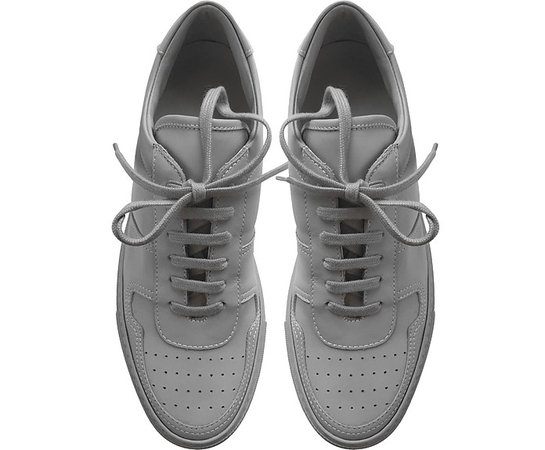 Common Projects Bball Low Grey Leather Women's Sneakers 35 IT/EU at FORZIERI