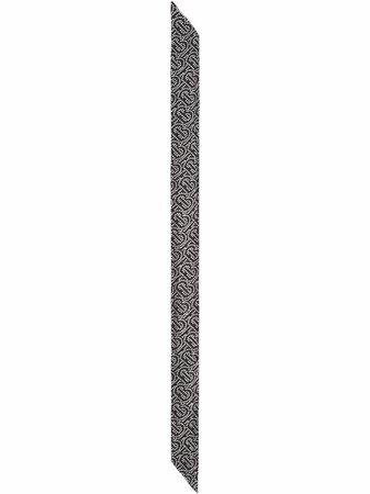 Burberry Reversible crystal-embellished Monogram Scarf - Farfetch