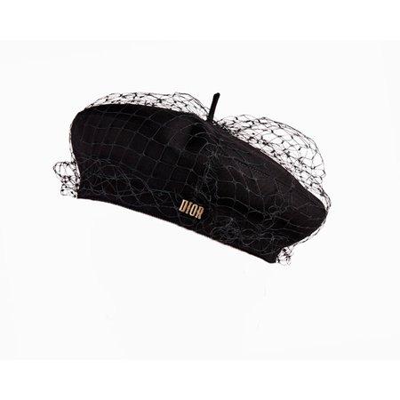 Christian Dior Black Runway Beret Hats Cotton Black ref.62859 - Joli Closet