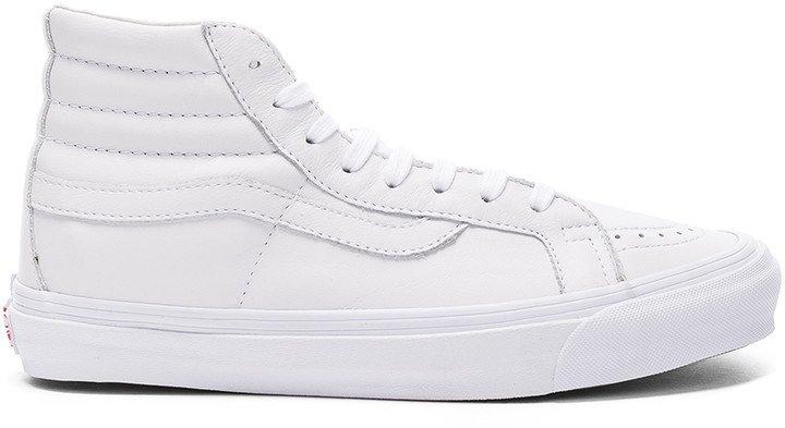 Leather OG SK8-HI LX in White | FWRD