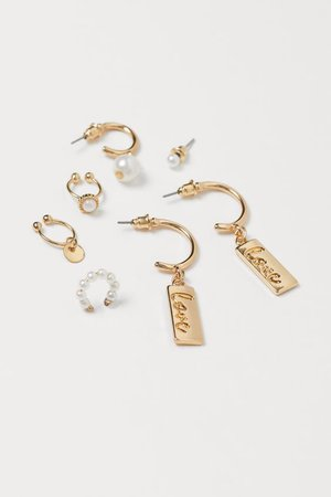 Earrings and Ear Cuffs - Gold-colored/white - Ladies | H&M US