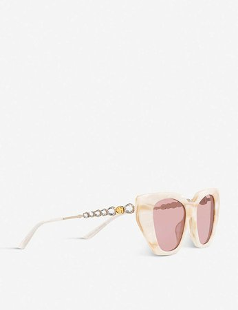 GUCCI - GG0641S crystal-embellished plastic sunglasses   Selfridges.com