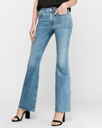High Waisted Hyper Stretch Slim Flare Jeans