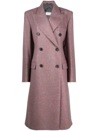 Maison Margiela, double-breasted tailored wool coat