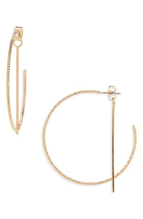 Panacea Front/Back Hoop Earrings | Nordstrom