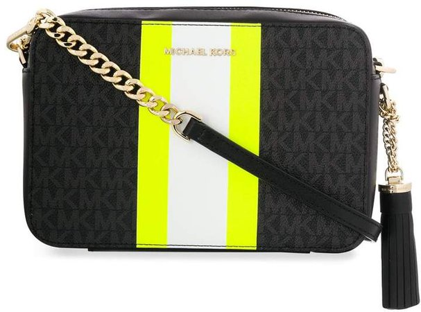neon stripe shoulder bag