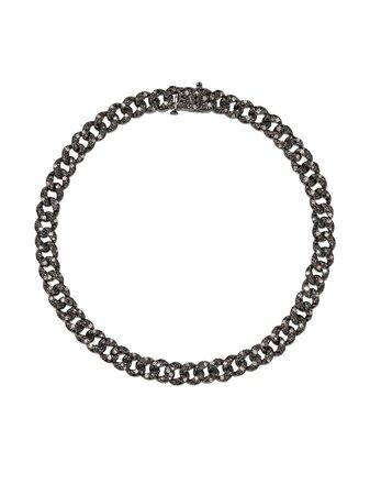 SHAY 18kt black gold diamond bracelet - FARFETCH