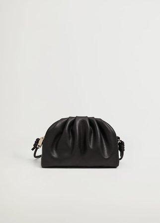 Pleated volume mini bag - Women | Mango USA black