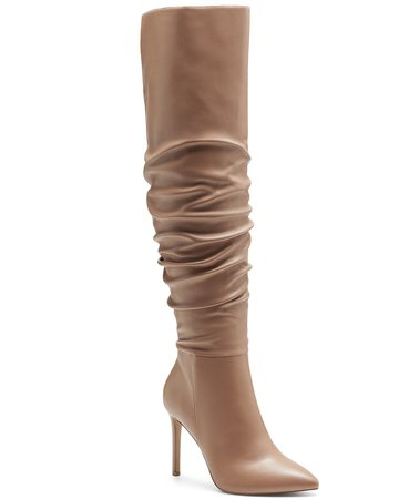 brown INC International Concepts INC Women's Iyonna Over-The-Knee Slouch Boots, Created for Macy's & Reviews - Boots - Shoes - Macy's