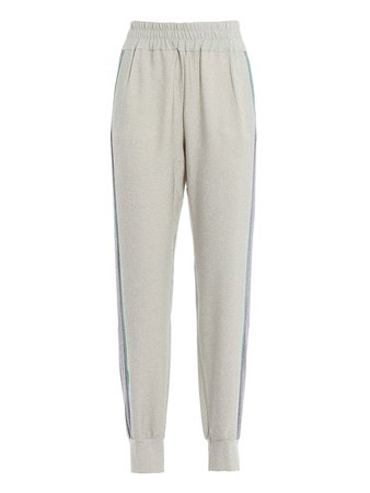 Blugirl Glitter Striped Track Pants