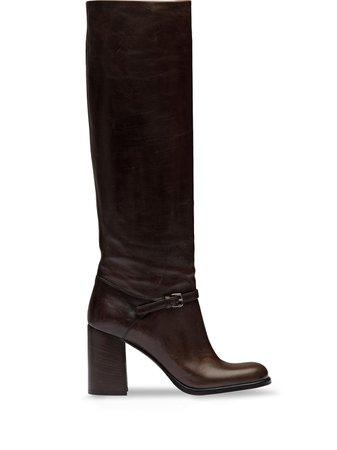 Miu Miu Knee High Boots - Farfetch