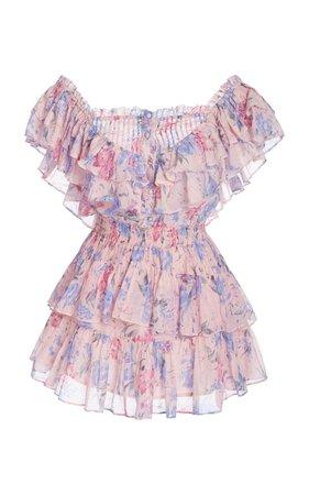 Mini Pink flower dress @sunnycea